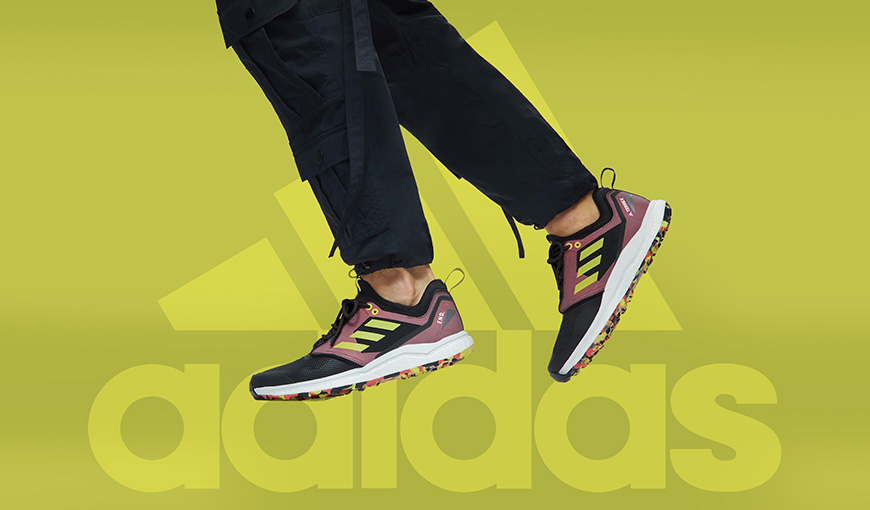 Man wearring adidas shoes